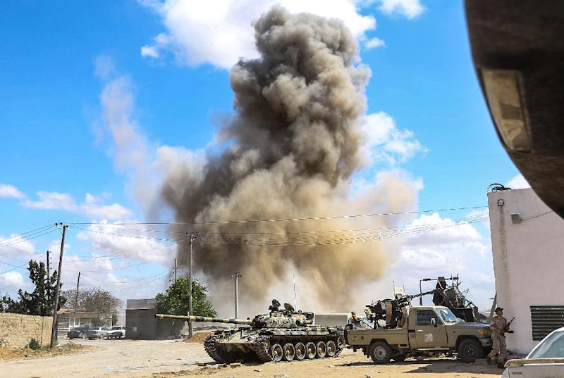 Fighting broke out on April 4 when strongman Khalifa Haftar launched an offensive to take Tripoli, the western seat of the UN-recognised Government of National Accord (AFP Photo/Mahmud TURKIA)