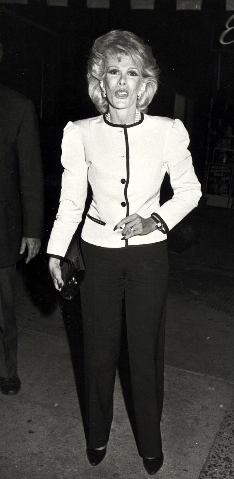 Joan Rivers at Elaine's Restaurant in New York City in 1984. (Ron Galella/WireImage)