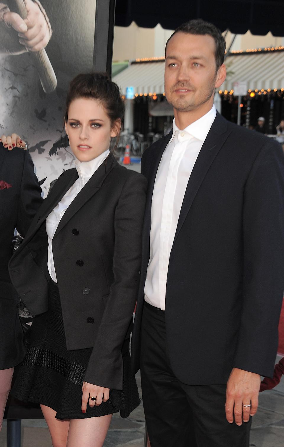 "Actress Kristen Stewart and director Rupert Sanders attend the ""Snow White and the Huntsman"" screening on Tuesday, May 29, 2012 in Los Angeles. (Photo by Jordan Strauss/Invision/AP)"