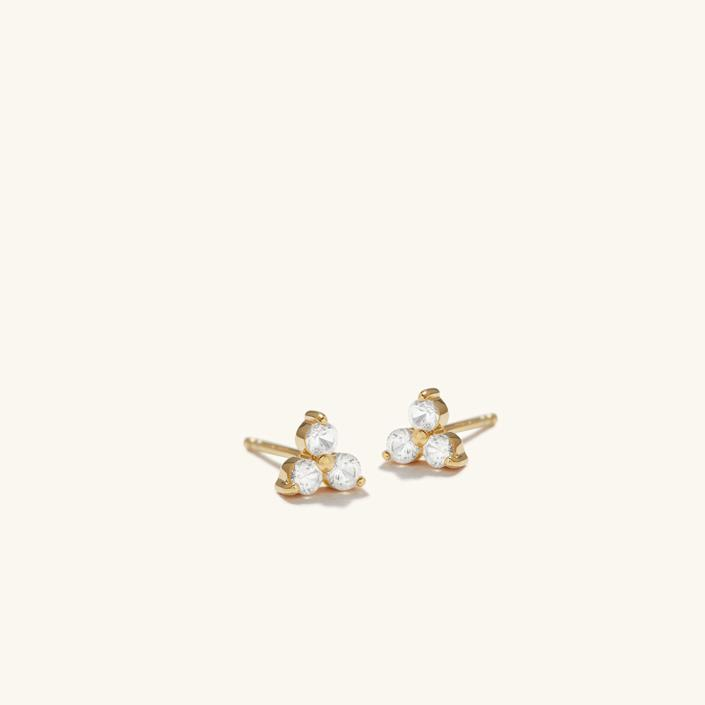 Lotus Studs (gold vermeil and sapphires) Mejuri, $105