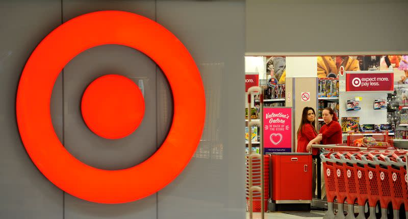 File photo: employees working at a Target store at St. Albert