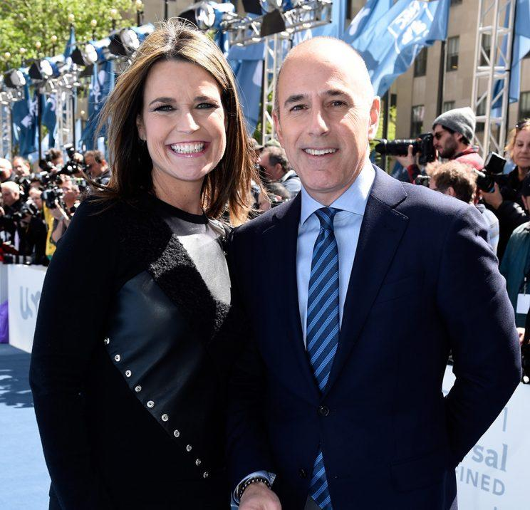 Today Show S Savannah Guthrie Surprises Matt Lauer For 20th Anniversary Celebration Amidst Talk Of Megyn Kelly Move