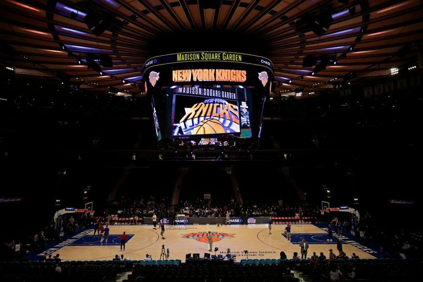 General view of Knicks MSG court