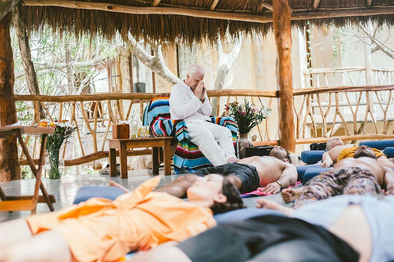 """<p>Clinical psychologist, intuitive spiritual guide and teacher, <a href=""""https://www.bobbyklein.com/bobby-klein"""">Bobby Klein</a>, led an awe-inspiring introspective journey through the mind, body, and soul's archetype teaching attendees how to tap into and ground their intuition.  </p>"""