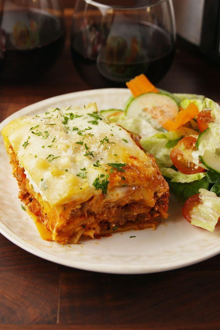 """<p>What's better than a <a href=""""https://www.delish.com/uk/cooking/recipes/a28831487/classic-lasagne-recipe/"""" rel=""""nofollow noopener"""" target=""""_blank"""" data-ylk=""""slk:lasagne"""" class=""""link rapid-noclick-resp"""">lasagne</a>? A <a href=""""https://www.delish.com/uk/food-news/a30469430/slow-cooker-hacks-tricks-tips/"""" rel=""""nofollow noopener"""" target=""""_blank"""" data-ylk=""""slk:slow cooker"""" class=""""link rapid-noclick-resp"""">slow cooker</a> lasagne, of course. This <a href=""""https://www.delish.com/uk/cooking/recipes/g30220431/slow-cooker-recipes/"""" rel=""""nofollow noopener"""" target=""""_blank"""" data-ylk=""""slk:slow cooker"""" class=""""link rapid-noclick-resp"""">slow cooker</a> lasagne recipe is so easy and tasty, we challenge to to find a better one.</p><p>Get the <a href=""""https://www.delish.com/uk/cooking/recipes/a29770996/crock-pot-lasagna-recipe/"""" rel=""""nofollow noopener"""" target=""""_blank"""" data-ylk=""""slk:Slow Cooker Lasagne"""" class=""""link rapid-noclick-resp"""">Slow Cooker Lasagne</a> recipe.</p>"""