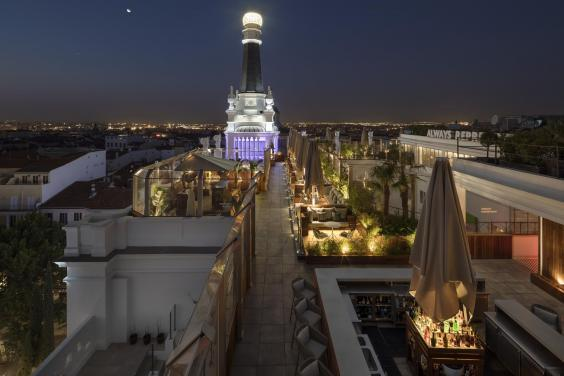 Enjoy drinks at the Radio ME roof terrace (ME Reina de Victoria)