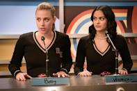 """<p>This absolutely bonkers adaptation of the classic Archie cartoons finds Betty, Veronica, Jughead, and Archie battling serial killers and cults. There's simply never a boring moment in this creepy little town.</p> <p><a href=""""https://cna.st/affiliate-link/2Z6F81fjBAMUbaw55t2E8q41eU5eDQYHEH5vMP7s8X5gXGxyxd3zMWPNSLVfSbD6S5rxYoM8tGAYsiVuAMA3TBuijzmN?cid=5e6a880af69eeb000842aae6"""" rel=""""nofollow noopener"""" target=""""_blank"""" data-ylk=""""slk:Available to watch on Netflix"""" class=""""link rapid-noclick-resp""""><em>Available to watch on Netflix</em></a></p>"""