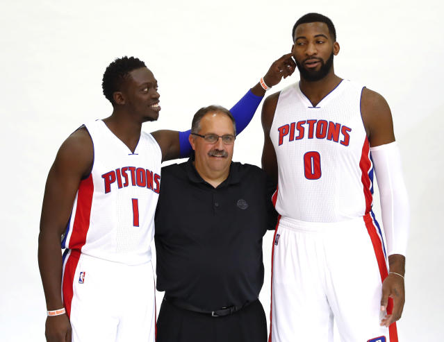 It's time for Reggie Jackson and Andre Drummond to get serious. (AP)