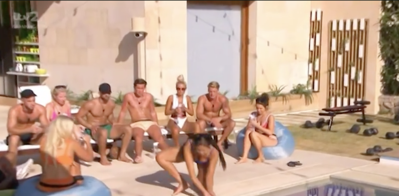 Anna ran straight to the pool and cupped water in her hands (ITV)