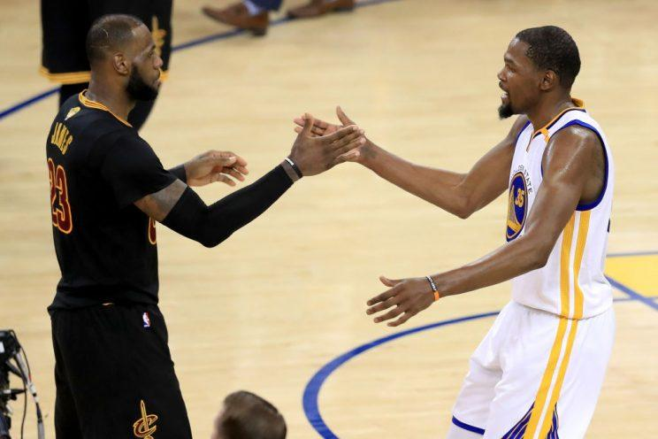 LeBron James and Kevin Durant will be in line for even bigger pay days again next summer. (Getty Images)