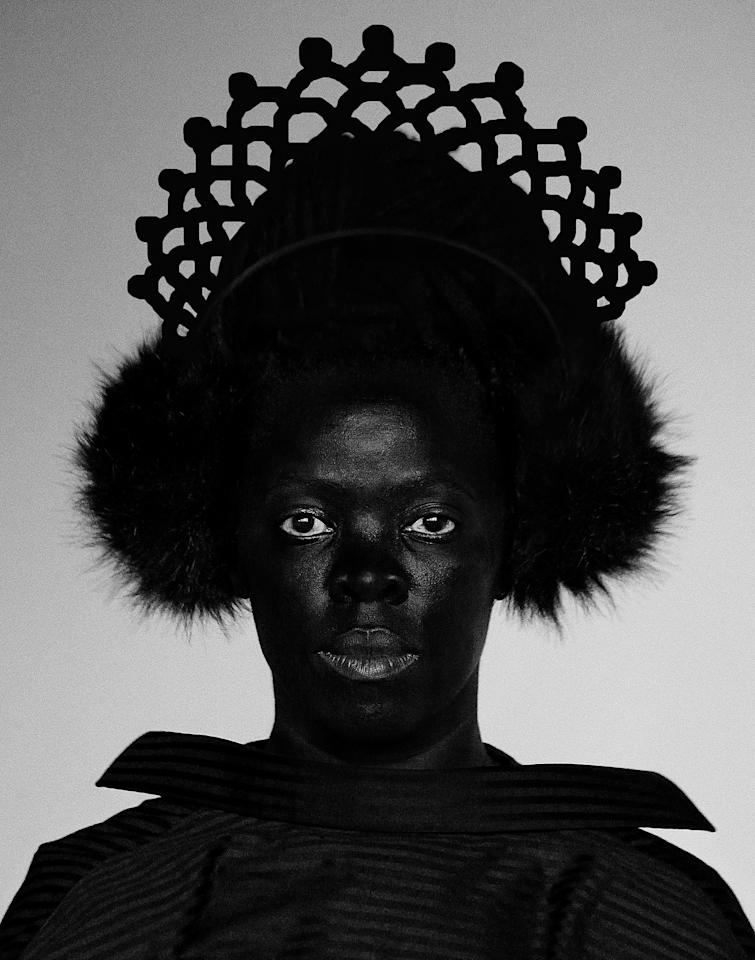 "Zanele Muholi, <em>Siphe, Johannesburg</em> (from <em>Somnyama Ngonyama</em>), 2018. Featured in the exhibition ""Implicit Tensions: Mapplethorpe Now,"" on view at the Solomon R. Guggenheim Museum in New York through January 5, 2020."
