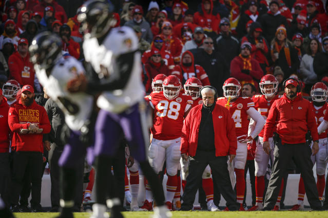 Chiefs defensive coordinator Bob Sutton couldn't last another season, even though Kansas City advanced to the AFC title game. (Getty Images)