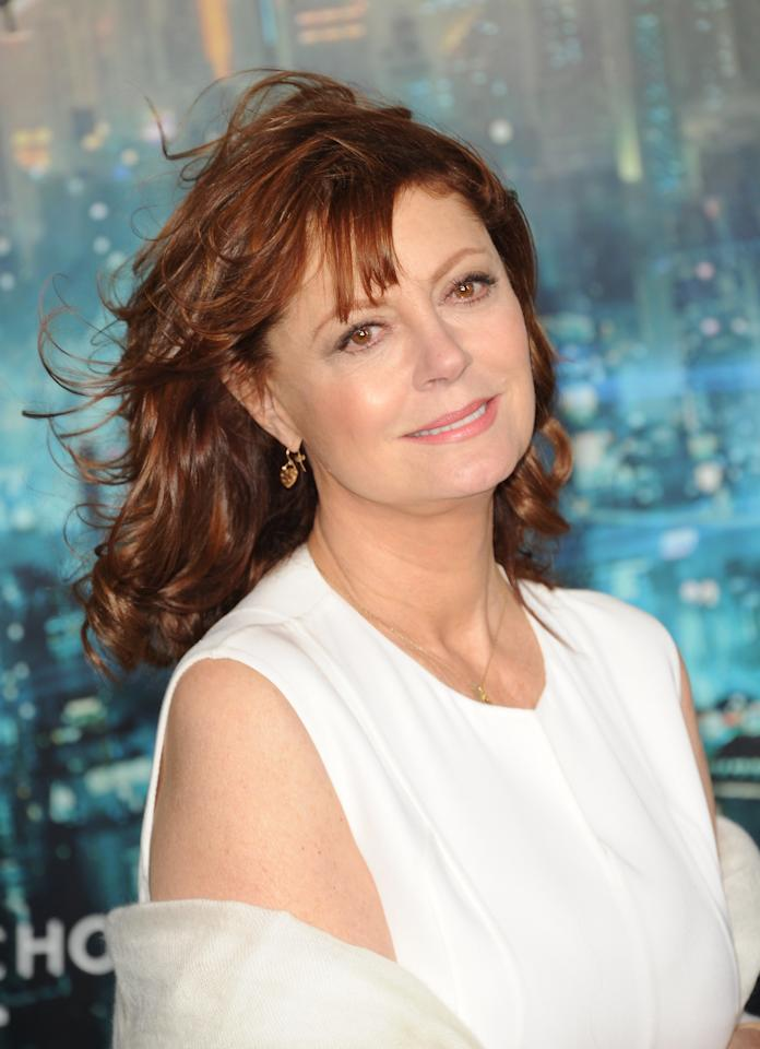 HOLLYWOOD, CA - OCTOBER 24:  Actress Susan Sarandon arrives at Warner Bros. Pictures' 'Cloud Atlas' premiere at Grauman's Chinese Theatre on October 24, 2012 in Hollywood, California.  (Photo by Jason Merritt/Getty Images)