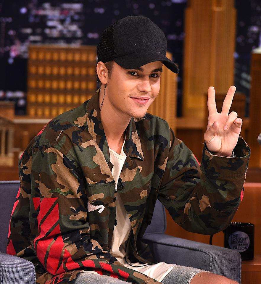 <p>What hasn't he been in the news for? Biebs has been busy making headlines with unmanned bar performances, giving etiquette lectures at concerts and reportedly, by punching a fan in the face. <i>(Photo: Getty Images)</i> </p>