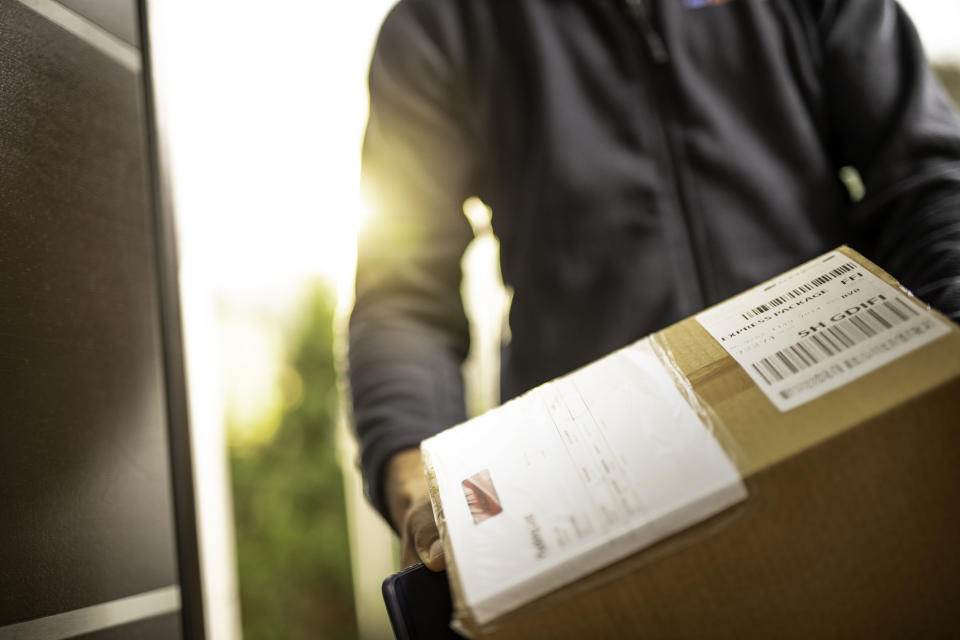 Getting an unsolicited package might seem like a nice problem to have, but it could be a 'brushing' scam. (Getty Images)