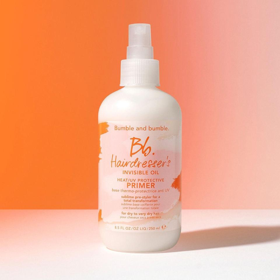 """<p><strong>Bumble and bumble</strong></p><p>sephora.com</p><p><strong>$28.00</strong></p><p><a href=""""https://go.redirectingat.com?id=74968X1596630&url=https%3A%2F%2Fwww.sephora.com%2Fproduct%2Fhairdresser-s-invisible-oil-primer-P386464&sref=https%3A%2F%2Fwww.thepioneerwoman.com%2Fbeauty%2Fhair%2Fg34919086%2Fbest-heat-protectant-for-hair%2F"""" rel=""""nofollow noopener"""" target=""""_blank"""" data-ylk=""""slk:Shop Now"""" class=""""link rapid-noclick-resp"""">Shop Now</a></p><p>If your hair tends to get knotty, you'll love how this protective primer detangles. It's made with rich oils (coconut, argan, and macadamia) that also fight frizz and soften dry hair. </p>"""