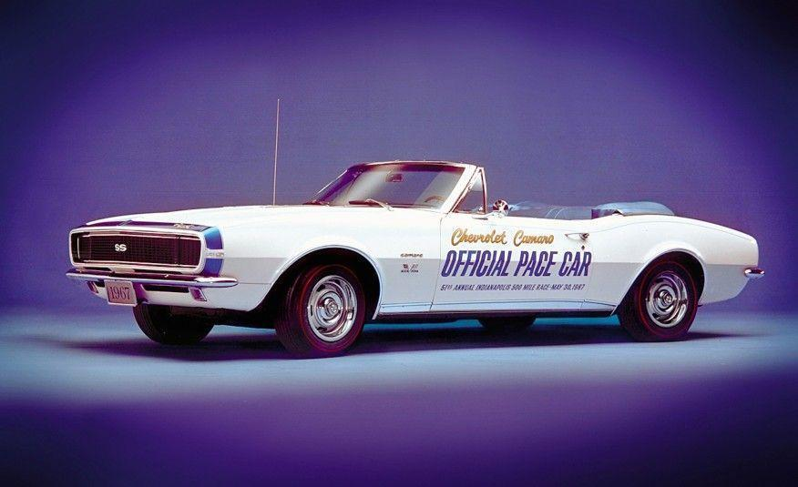 <p>The 1967 Indianapolis 500 was paced by a Camaro convertible with a 325-hp version of the 396 big-block V-8 engine under its hood. Chevrolet didn't produce replicas as such, but there were 100 of these Ermine White droptops built for Indianapolis Motor Speedway use, most of which were later sold as used cars.</p>