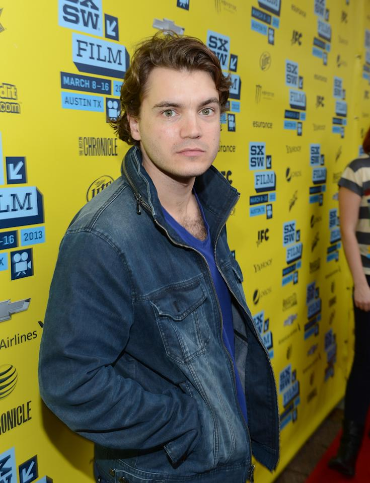 "AUSTIN, TX - MARCH 09:  Actor Emile Hirsch arrives to the screening of ""Prince Avalanche"" during the 2013 SXSW Music, Film + Interactive Festival at The Paramount Theatre on March 9, 2013 in Austin, Texas.  (Photo by Michael Buckner/Getty Images)"