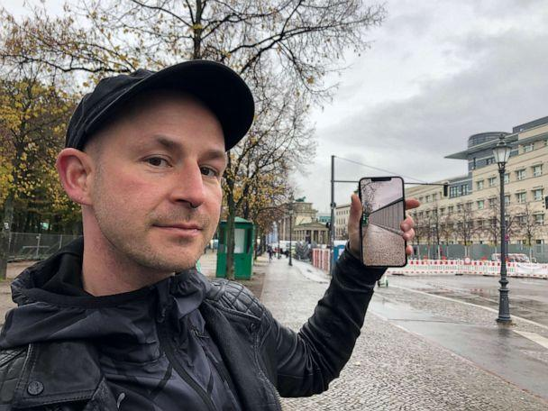 PHOTO: Developer Peter Kolski launched the MaARR app that recreates the Berlin wall and lets users explore events leading up to the fall through augmented reality stories. (Sarah Hucal)