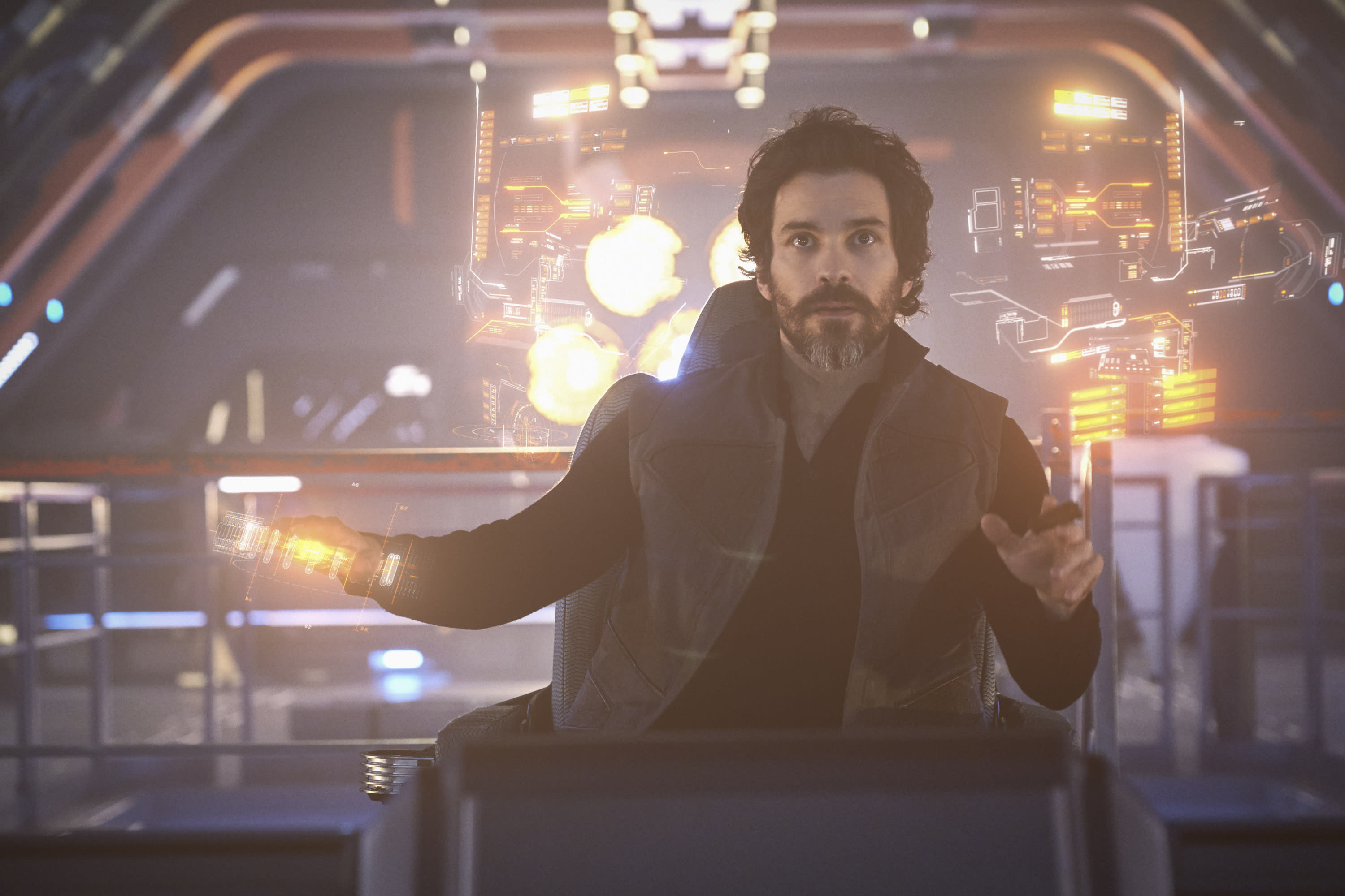 Pictured: Santiago Cabrera as Rios of the the CBS All Access series STAR TREK: PICARD. Photo Cr: Trae Patton/CBS ©2019 CBS Interactive, Inc. All Rights Reserved.