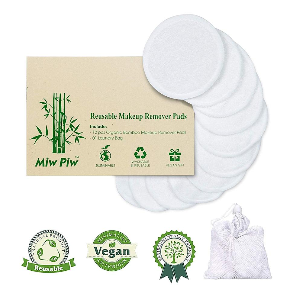 """<p>These <a href=""""https://www.popsugar.com/buy/Reusable-Cotton-Pads-549635?p_name=Reusable%20Cotton%20Pads&retailer=amazon.com&pid=549635&price=8&evar1=savvy%3Aus&evar9=46156462&evar98=https%3A%2F%2Fwww.popsugar.com%2Fphoto-gallery%2F46156462%2Fimage%2F47222337%2FReusable-Cotton-Pads&list1=shopping%2Ctravel%2Camazon%2Ctravel%20tips&prop13=api&pdata=1"""" rel=""""nofollow"""" data-shoppable-link=""""1"""" target=""""_blank"""" class=""""ga-track"""" data-ga-category=""""Related"""" data-ga-label=""""https://www.amazon.com/Reusable-include-Washable-Skincare-Cleaning/dp/B07RJYQRHQ/ref=sr_1_3?crid=3JN6Q0FJA7WST&amp;keywords=sustainable+makeup+remover&amp;qid=1581720897&amp;sprefix=sustainable+makeup%2Caps%2C214&amp;sr=8-3"""" data-ga-action=""""In-Line Links"""">Reusable Cotton Pads </a> ($8) are a great sustainable alternative to carrying around face wipes. I love using the vegan pads to remove my makeup. Plus, they're even washable, so I can reuse them, making them a good choice for the environment.</p>"""