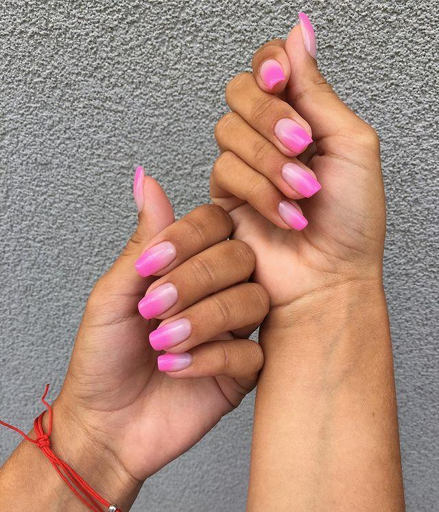 """<p>Torn between brights and neutrals? This is the perfect compromise next time you book your manicure appointment.</p><p><a href=""""https://www.instagram.com/p/B0x-2-7CIvm/"""" rel=""""nofollow noopener"""" target=""""_blank"""" data-ylk=""""slk:See the original post on Instagram"""" class=""""link rapid-noclick-resp"""">See the original post on Instagram</a></p>"""