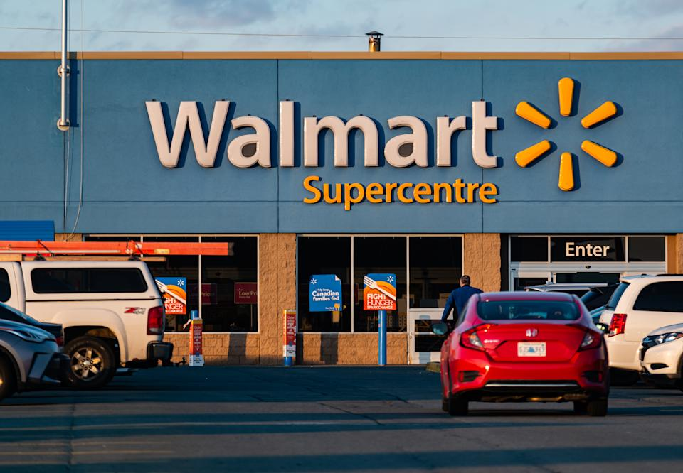 April 17, 2020 - Halifax, Canada - Walmart Supercentre store located in the Bayers Lake retail park. Walmart is dedicating the opening hour of stores across Canada exclusively for senior citizens, the disabled, and those with vulnerable health conditions as well as in-store social distancing practices during the ongoing COVID-19 pandemic.