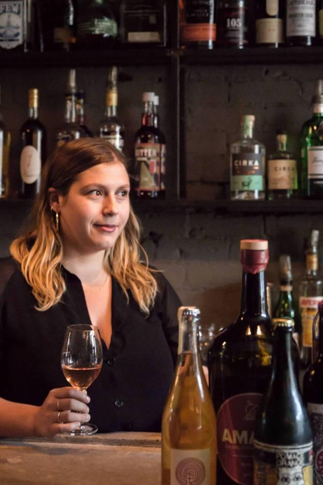 Kaitlin Doucette, who oversees the wine program at Foxy, Olive et Gourmando, and Un Po' Di Piu in Montreal, Canada. | Katie Sehl