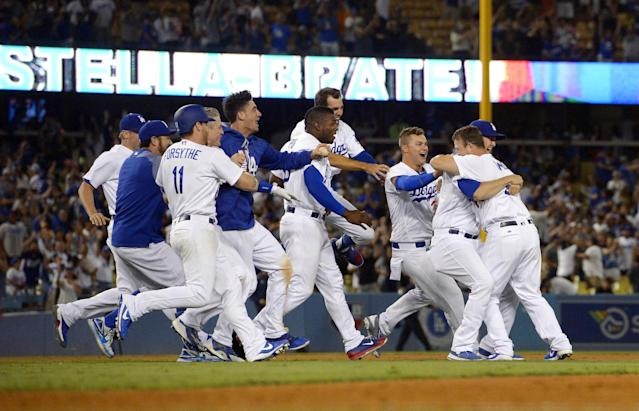 The Dodgers have plenty to celebrate these days. (AP)
