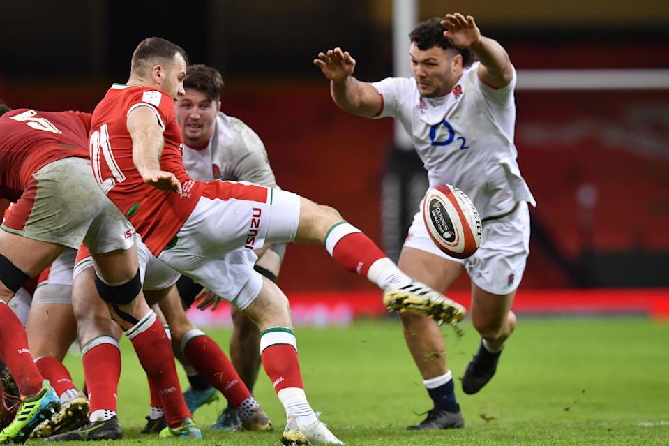 <p>England prop Ellis Genge was targeted with abuse</p> (AFP via Getty Images)