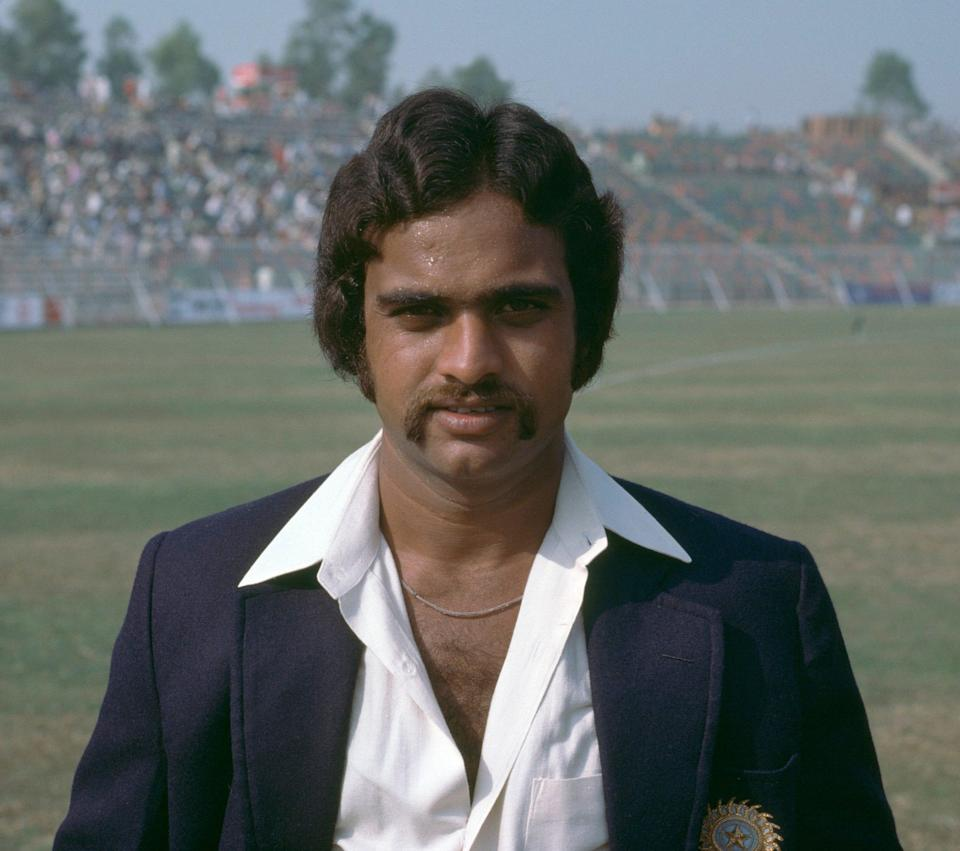 Yashpal at the Gaddafi Stadium in Lahore in 1978 - Patrick Eagar/Popperfoto via Getty Images/Getty Images