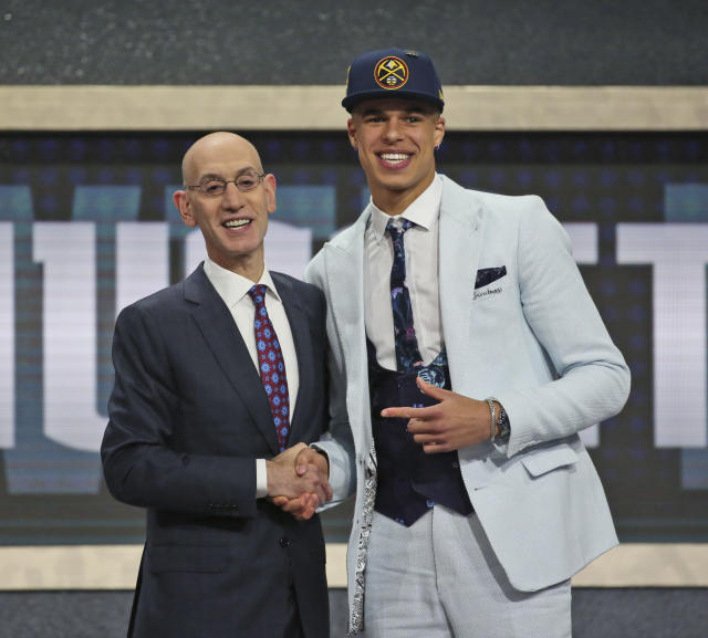 Michael Porter Jr. sat through 13 NBA draft picks ahead of him before being taken by the Denver Nuggets. (AP Photo/Kevin Hagen)