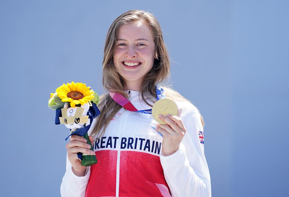 Charlotte Worthington with her gold medal (Mike Egerton/PA) (PA Wire)