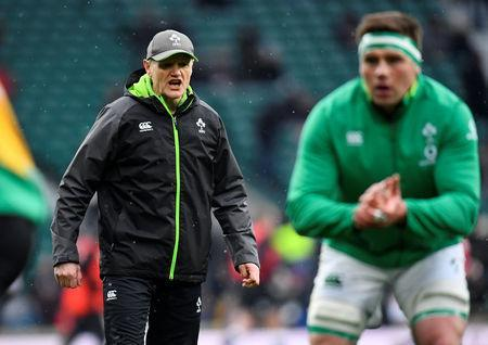 Rugby Union - Six Nations Championship - England vs Ireland - Twickenham Stadium, London, Britain - March 17, 2018 Ireland head coach Joe Schmidt during the warm up before the match REUTERS/Toby Melville