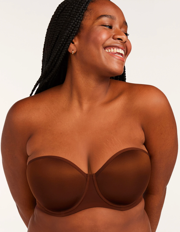"""<p><strong>Key selling points:</strong> If you struggle to find a cup size that fits you perfectly, this bra could be a godsend. It's available in cups AA to I, including signature half-cups, and bands from 30 to 48. With soft-support foam and a smooth, no-slip band, it's destined to become an everyday favorite in your intimates rotation.</p> <p><strong>What customers say:</strong> """"Thank you, thank you for <em>finally</em> making a comfortable strapless bra that fits! I wear a 38F and had given up on finding a strapless bra that fits, lifts, and is comfortable. That is, until now. I'll only wear ThirdLove from now on—hopefully you guys will be around a long time!"""" —<em>Rhonda G., reviewer on</em> <a href=""""https://fave.co/3hlpAvQ"""" rel=""""nofollow noopener"""" target=""""_blank"""" data-ylk=""""slk:ThirdLove"""" class=""""link rapid-noclick-resp""""><em>ThirdLove</em></a></p> $65, ThirdLove. <a href=""""https://www.thirdlove.com/products/24-7-classic-strapless-bra-mahogany"""" rel=""""nofollow noopener"""" target=""""_blank"""" data-ylk=""""slk:Get it now!"""" class=""""link rapid-noclick-resp"""">Get it now!</a>"""