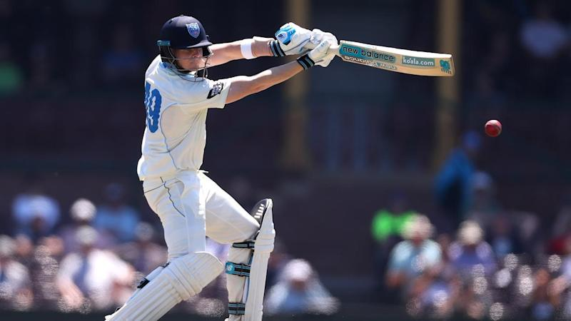 It's been slow going for Steve Smith, batting for NSW against WA in the Shield