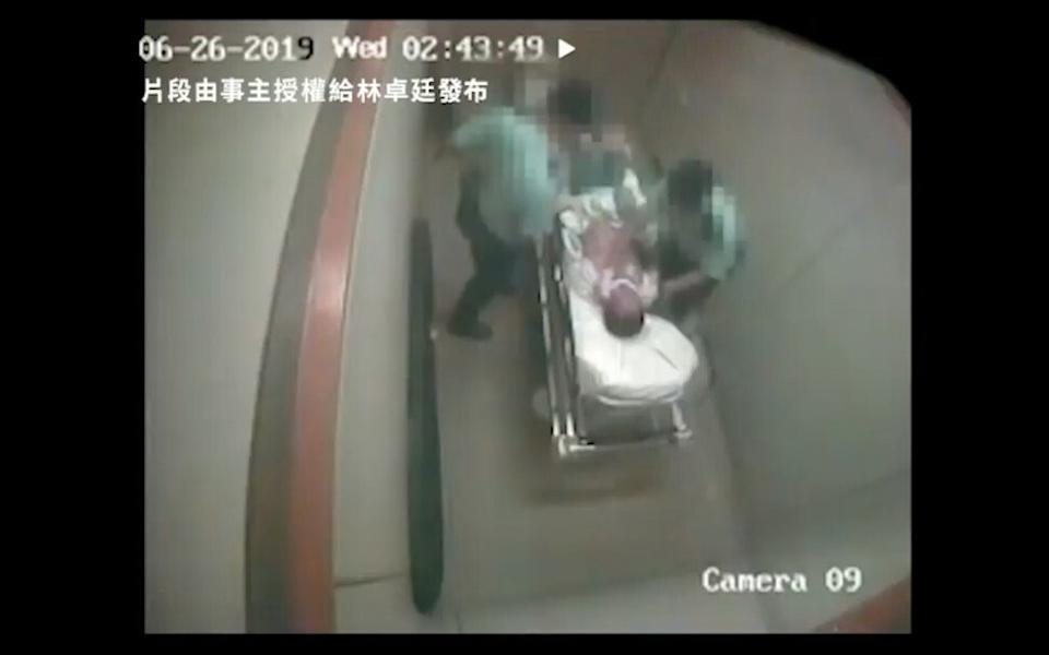 The hospital beating was recorded by CCTV. Photo: Handout