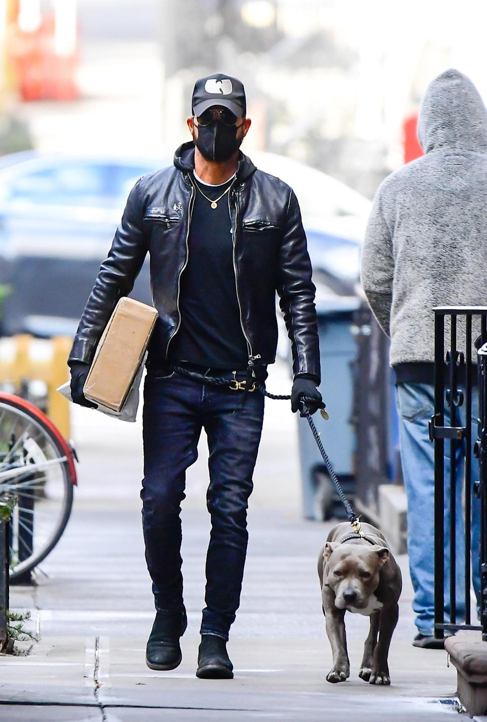 Justin Theroux in New York, January 20, 2021.