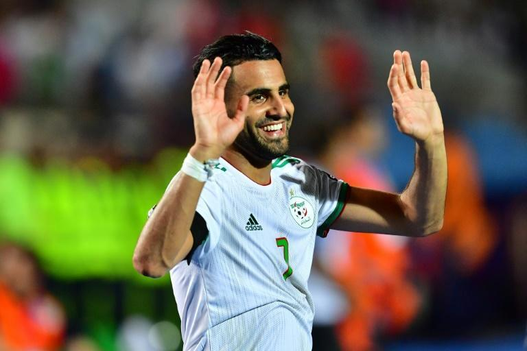 Captain Riyad Mahrez celebrates after Algeria defeated Senegal in the 2019 Africa Cup of Nations final in Cairo.