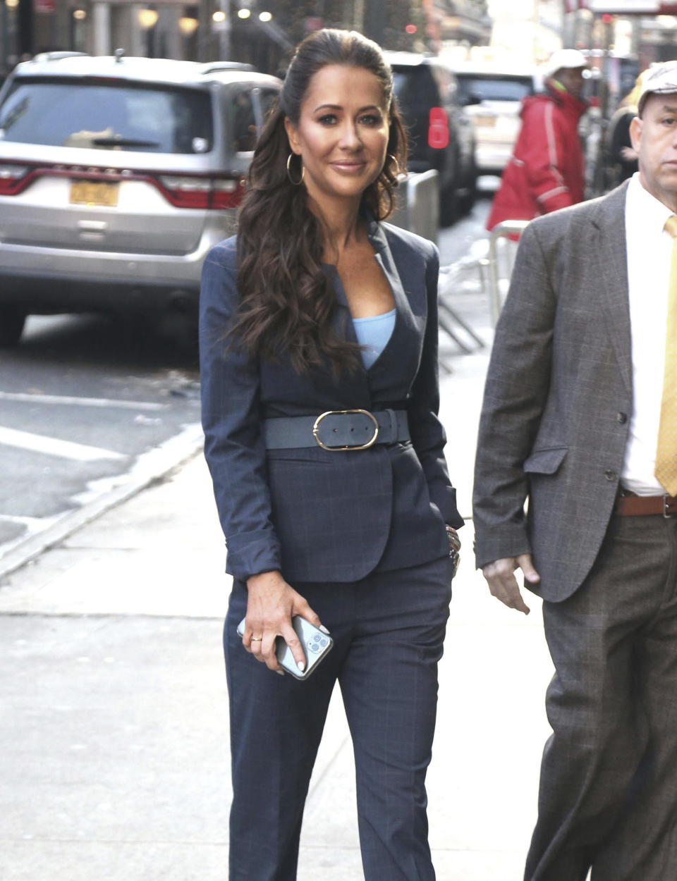 Jessica Mulroney is seen on February 24, 2020 at ABC Television Studios in New York City for an appearance on Good Morning America