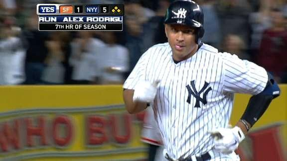 Alex Rodriguez passes Lou Gehrig on all-time list with 24th career grand slam