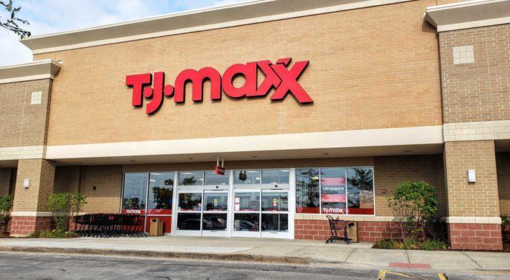 An outside shot of a T.J. Maxx (TJX) store in Romeoville, Illinois.