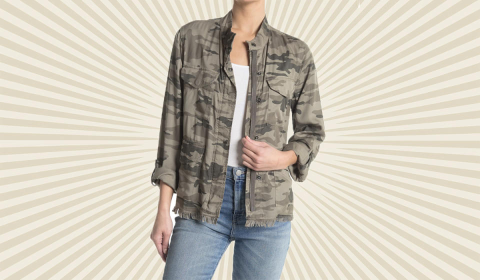 Effortless cool: This camouflage jacket will really get you noticed (ironic, huh?). (Photo: Nordstrom Rack)