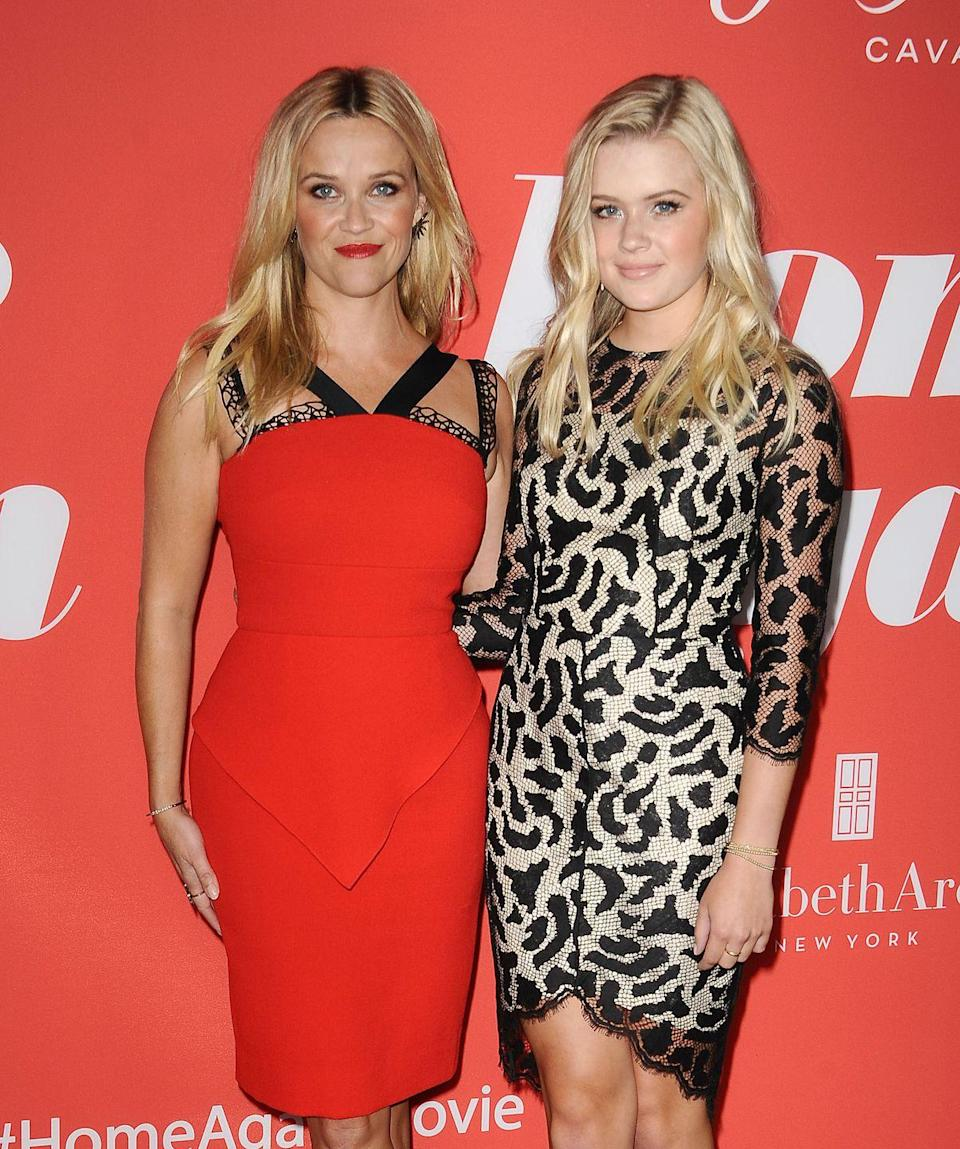 <p>Ava wore a leopard print-inspired dress to the premiere of her mother Reese's Home Again film</p>