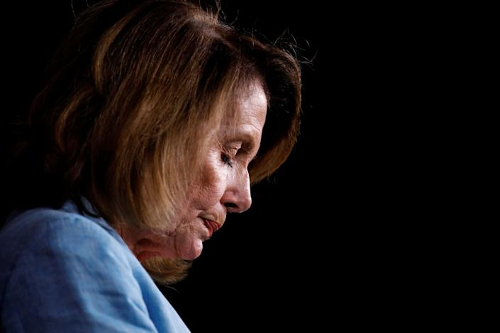 House Minority Leader Nancy Pelosi (D-Calif.) speaks about the recent attack on the Republican congressional baseball team during her weekly press conference on Capitol Hill on June 15, 2017.