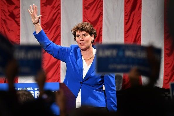 Democrats are banking on Amy McGrath to unseat Mitch McConnell (Getty)