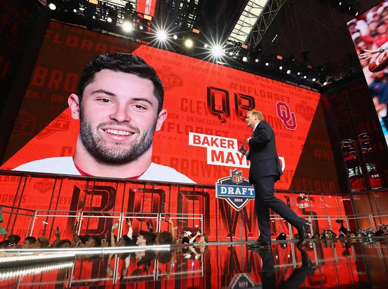 First overall pick in the 2018 draft, Baker Mayfield finally made his first appearance on Thursday (Getty)