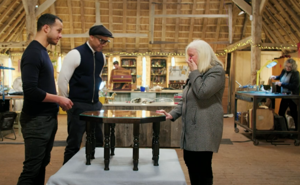 Will Kirk added a glass top so the table can be fully functional without getting damaged (BBC)