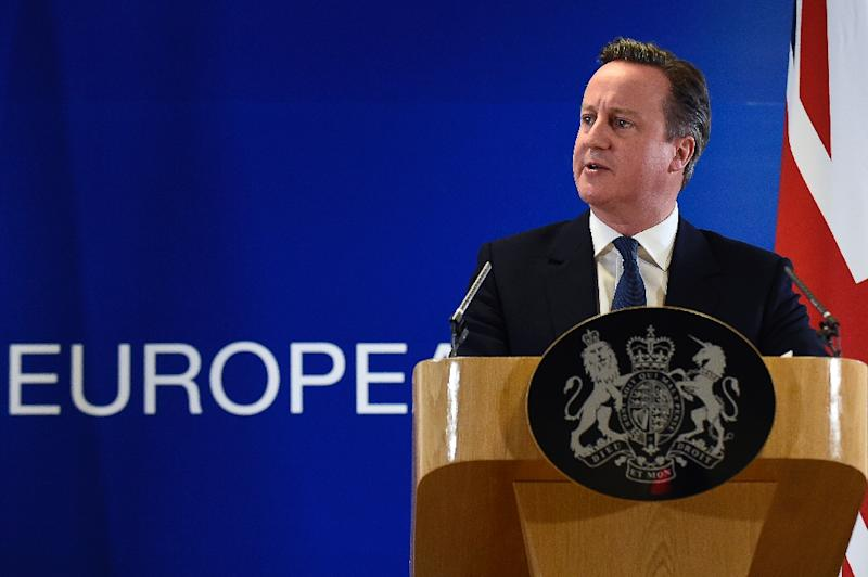 A snap poll of Institute of Directors members conducted after Prime Minister David Cameron's deal with fellow EU leaders showed that 60 percent favoured remaining in the union (AFP Photo/John Thys)