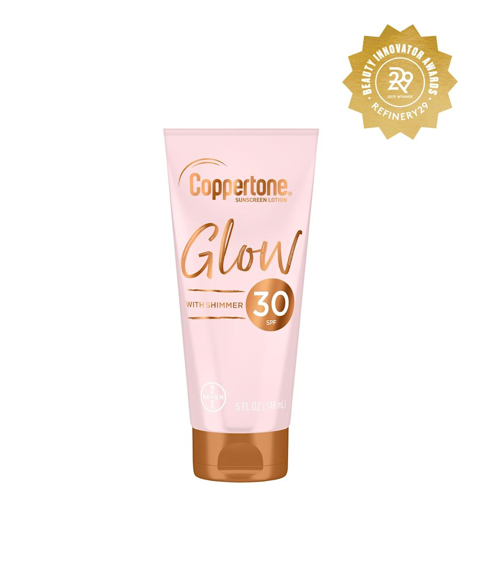 """<h2>Coppertone Glow With Shimmer Sunscreen Lotion </h2> <br>Sunscreen is usually the least sexy part of our beauty routine, but this Coppertone formula changed that thanks to its ability to protect skin with SPF 30 and a handful of shimmer on the side.<br><br><strong>Coppertone</strong> Coppertone Glow With Shimmer Sunscreen Lotion, $, available at <a href=""""https://www.target.com/p/coppertone-glow-with-shimmer-sunscreen-lotion-spf-50-5-fl-oz/-/A-75664737?ref=tgt_adv_XS000000&AFID=google_pla_df&fndsrc=tgtao&CPNG=PLA_Beauty%2BPersonal+Care%2BShopping_Local&adgroup=SC_Health%2BBeauty&LID=700000001170770pgs&network=g&device=c&location=9067609&ds_rl=1246978&ds_rl=1247077&ds_rl=1246978&gclid=CjwKCAiAws7uBRAkEiwAMlbZji5o5MBUtnmpYTKMqSmqZ1KhZIsQLmImiWMkbOzAO7I6Xt8ljO8fcRoCf7YQAvD_BwE&gclsrc=aw.ds#locklink"""" rel=""""nofollow noopener"""" target=""""_blank"""" data-ylk=""""slk:Target"""" class=""""link rapid-noclick-resp"""">Target</a><br>"""